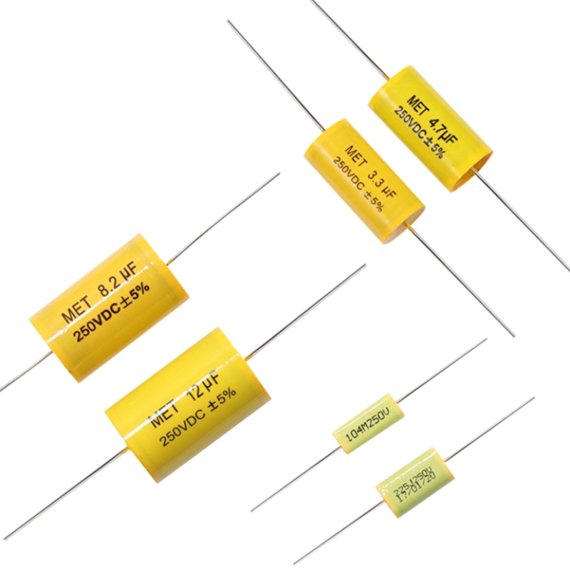RUOFEI brand CL20 series axial metallized polyester film capacitors, high-quality MET/MKT capacitors